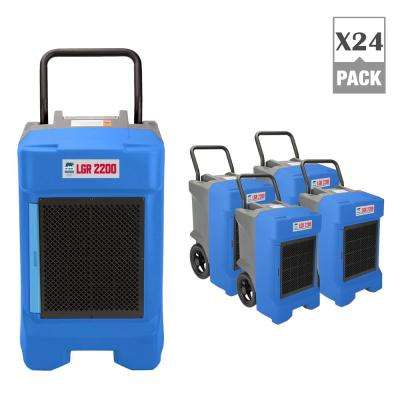225-Pint Commercial Dehumidifier for Water Damage Restoration Mold Remediation in Blue (24-Pack)