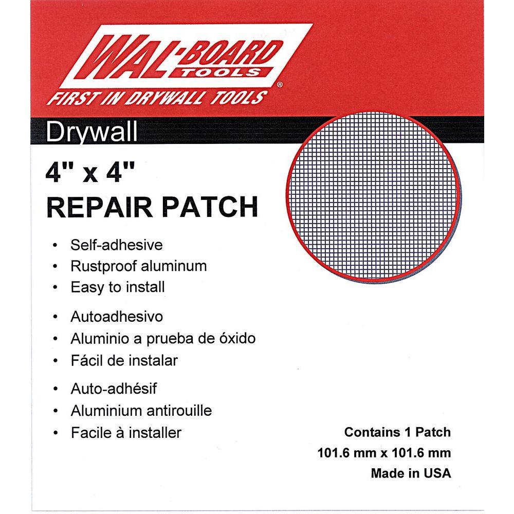 4 in. x 4 in. Drywall Self Adhesive Wall Repair Patch