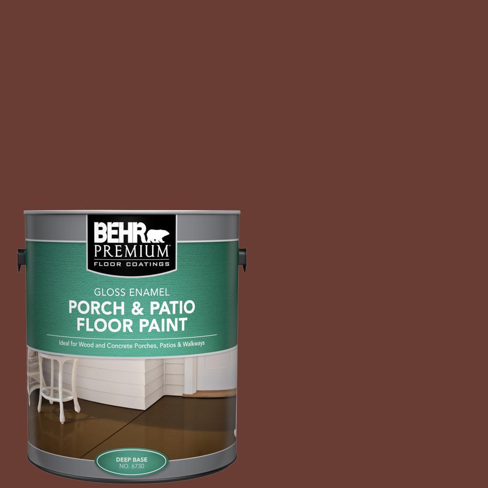 BEHR Premium 1 gal. #ECC-42-3 Deep Cherrywood Gloss Enamel Interior/Exterior Porch and Patio Floor Paint