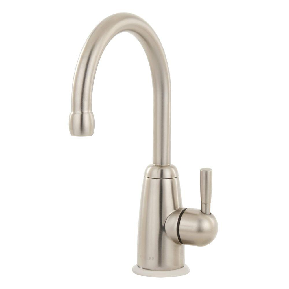 KOHLER Wellspring Single Handle Beverage Faucet in Vibrant Stainless ...