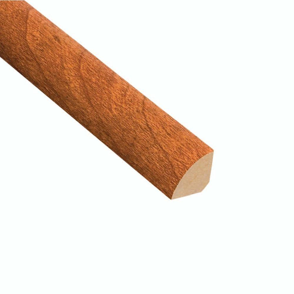 Hampton Bay High Gloss Pacific Cherry 19.5 mm Thick x 3/4 in. Wide x 94 in. Length Laminate Quarter Round Molding-DISCONTINUED