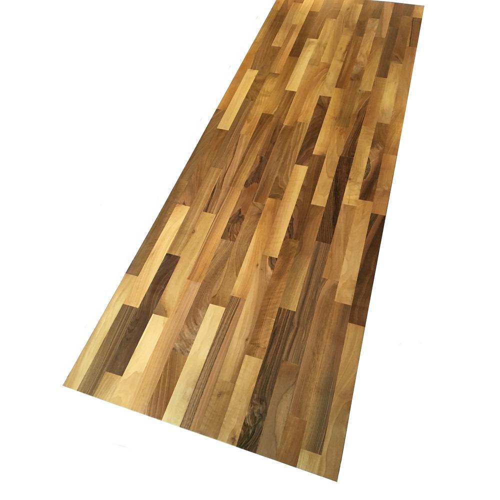 6 ft. 2 in. L x 2 ft. 1 in. D x 1.5 in. T Butcher Block Countertop in Unfinished European Walnut