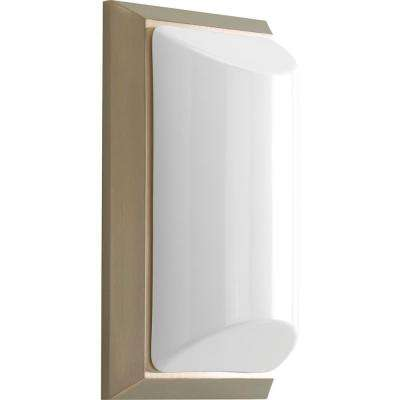 Shelton Collection Brushed Nickel 5.6 in. Outdoor Wall Lantern Sconce
