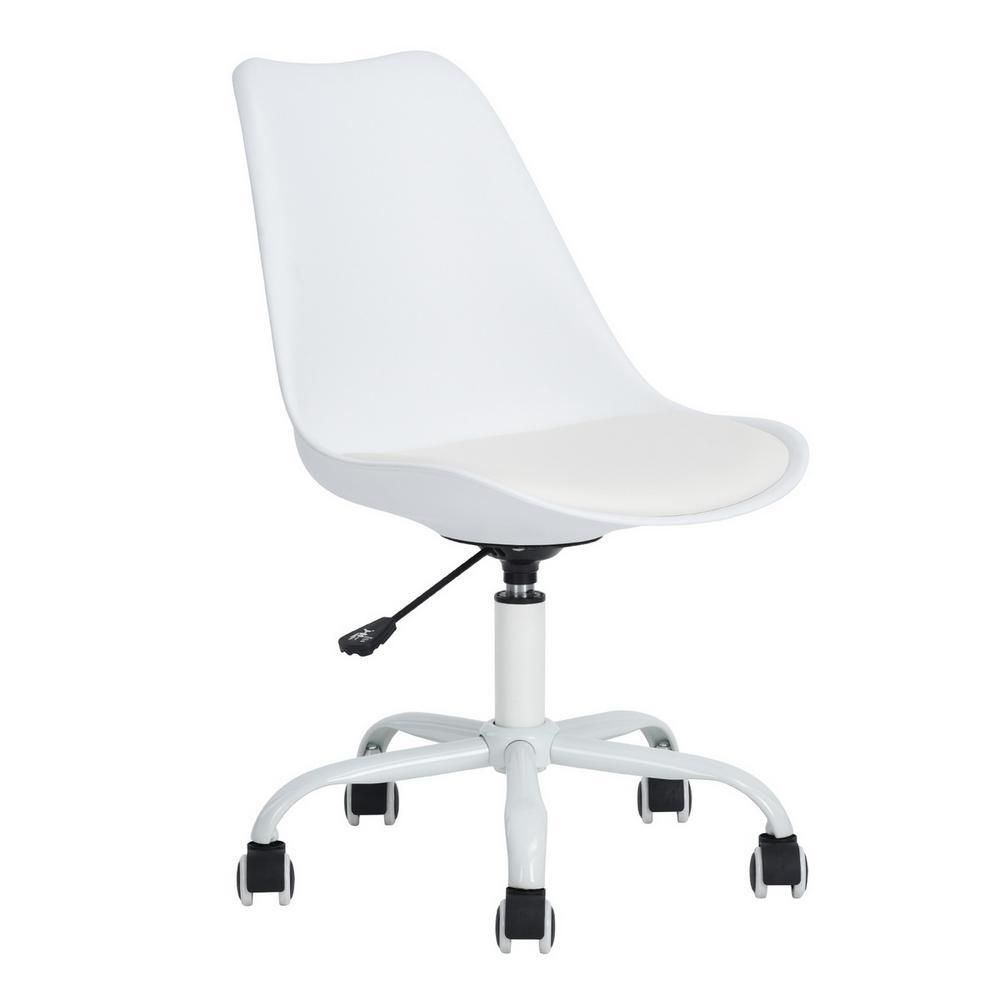 Blokhus White Pu Cushion Ergonomic Office Desk Chair