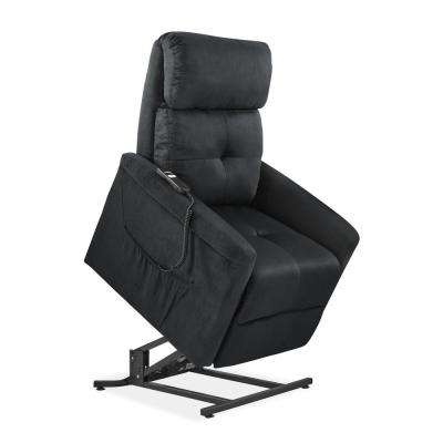 Black Microfiber Power Recline and Lift Chair