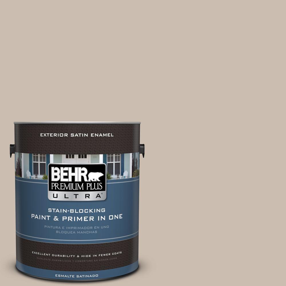 BEHR Premium Plus Ultra 1-gal. #PPU5-13 Creamy Mushroom Satin Enamel Exterior Paint