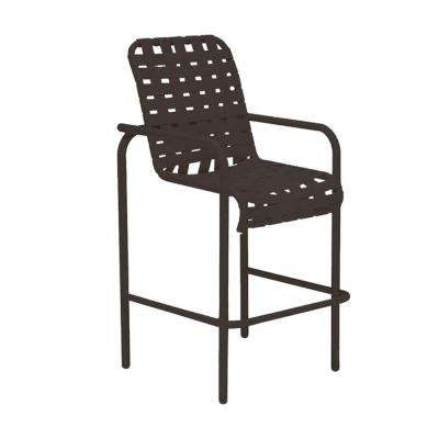 Lido Crossweave Contract Java Patio Bar Stool