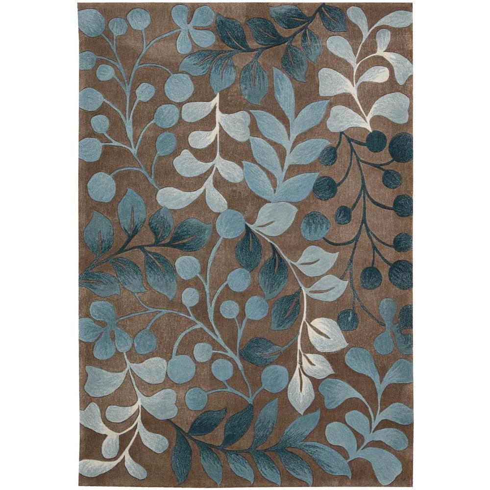 Nourison Berry Branch Mocca 5 Ft X 7 6 In Area Rug