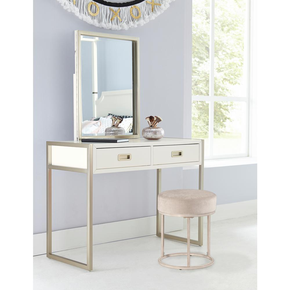 Hilale Furniture Swanson White Vanity Stool