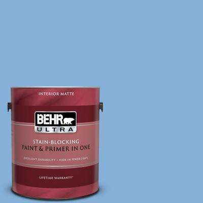 1 gal. #PPU15-12 Bluebird Matte Interior Paint and Primer in One