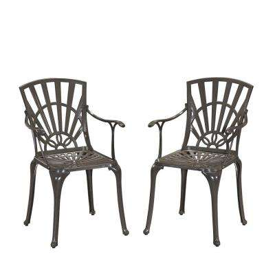 Largo Taupe All-Weather Patio Dining Chair Pair