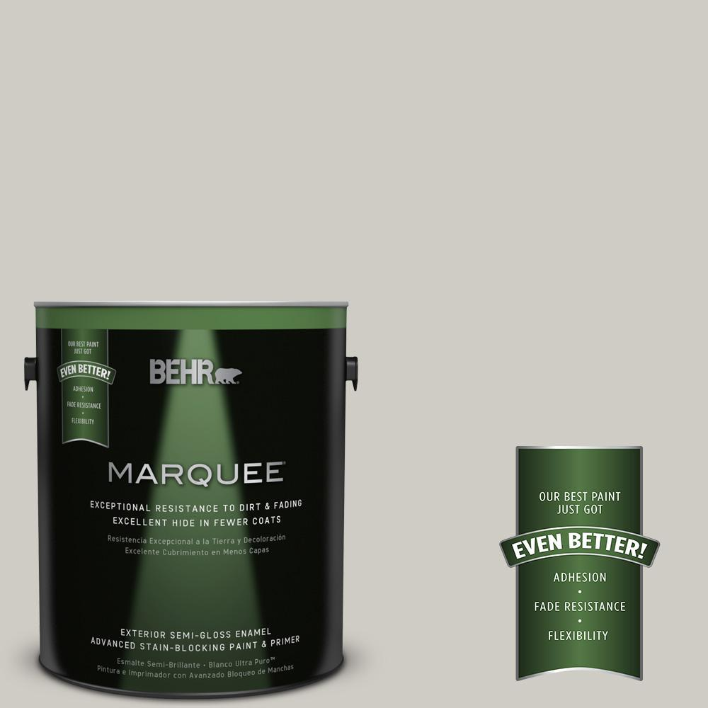 BEHR MARQUEE 1-gal. #BNC-05 Ground Fog Semi-Gloss Enamel Exterior Paint