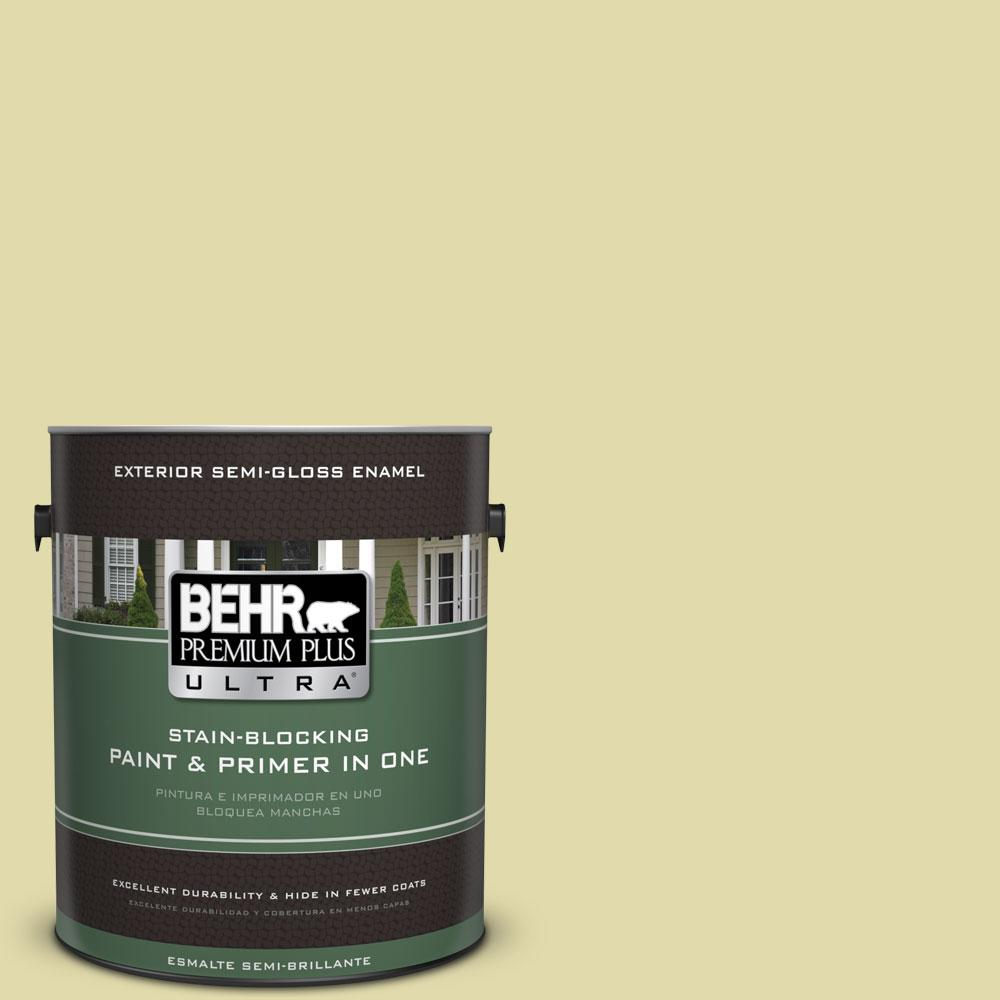1-gal. #400C-3 Dried Palm Semi-Gloss Enamel Exterior Paint