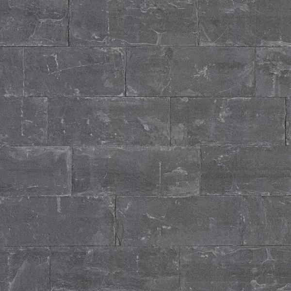 Advantage 8 in. x 10 in. Sacramento Black Seamless Slate Wallpaper