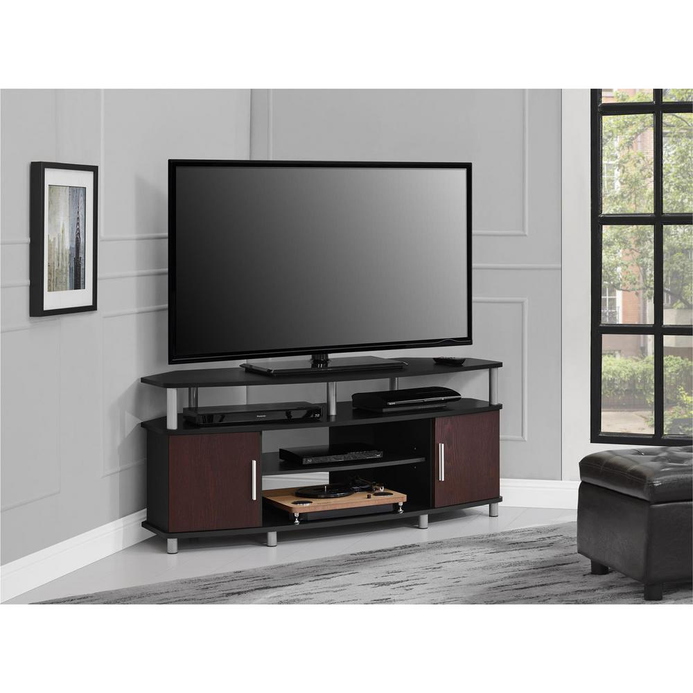 Ameriwood Home Windsor Black and Cherry 50 in. TV Stand HD19448 ...