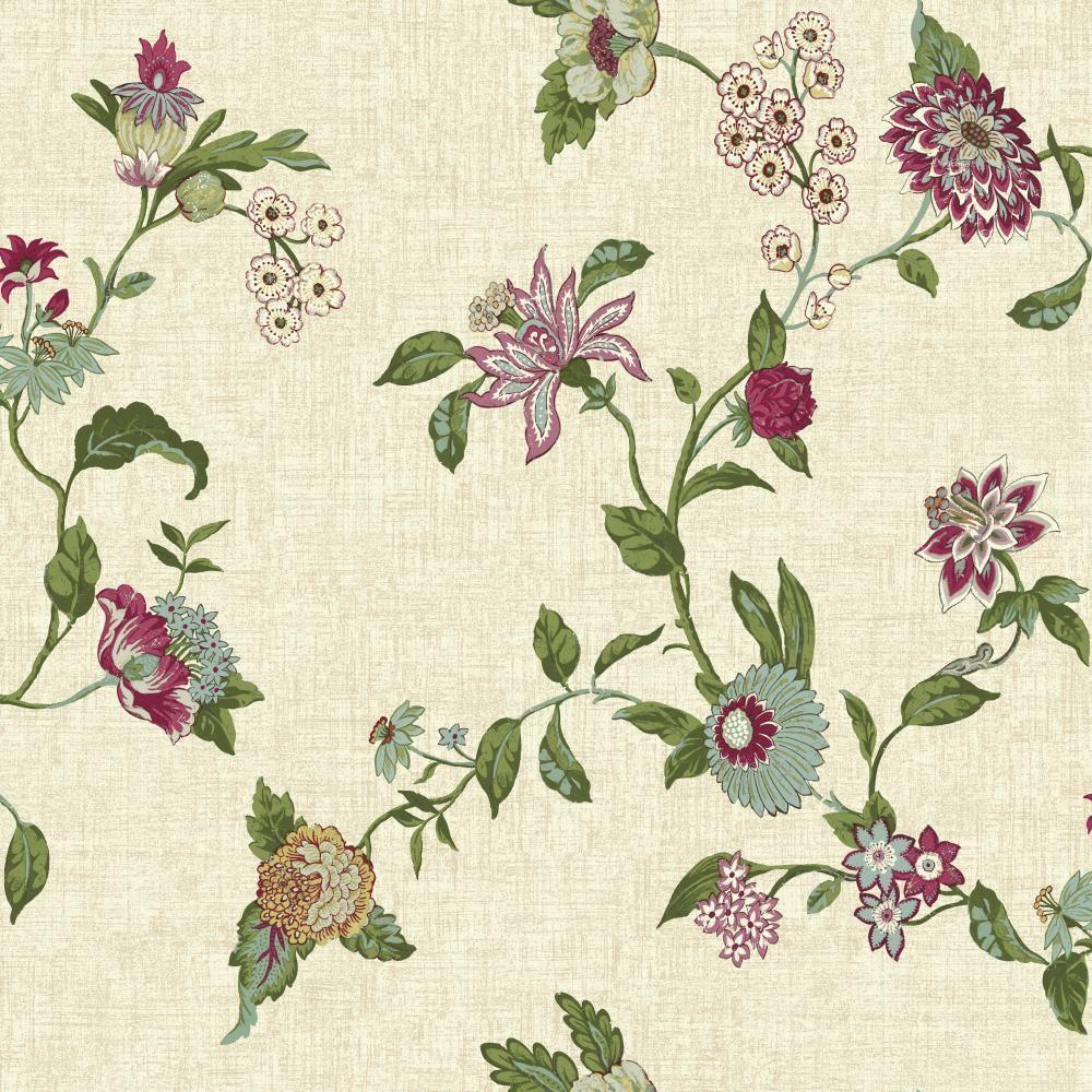 York Wallcoverings Global Chic Graceful Garden Trail Wallpaper GC8709