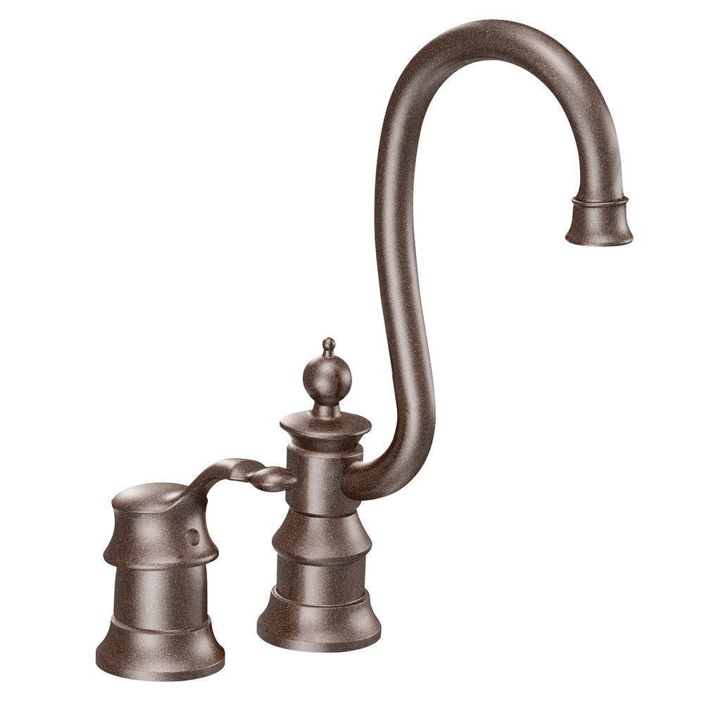 MOEN Waterhill Single Handle Bar Faucet in Oil-Rubbed Bronze