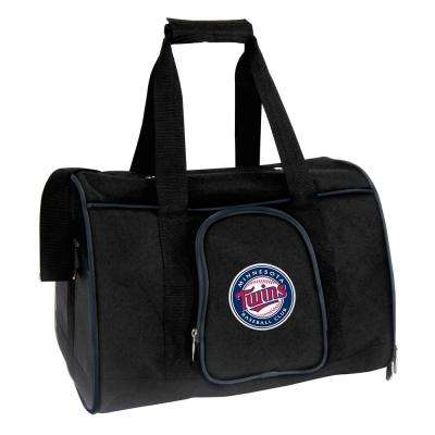 MLB Minnesota Twins Pet Carrier Premium 16 in. Bag in Navy