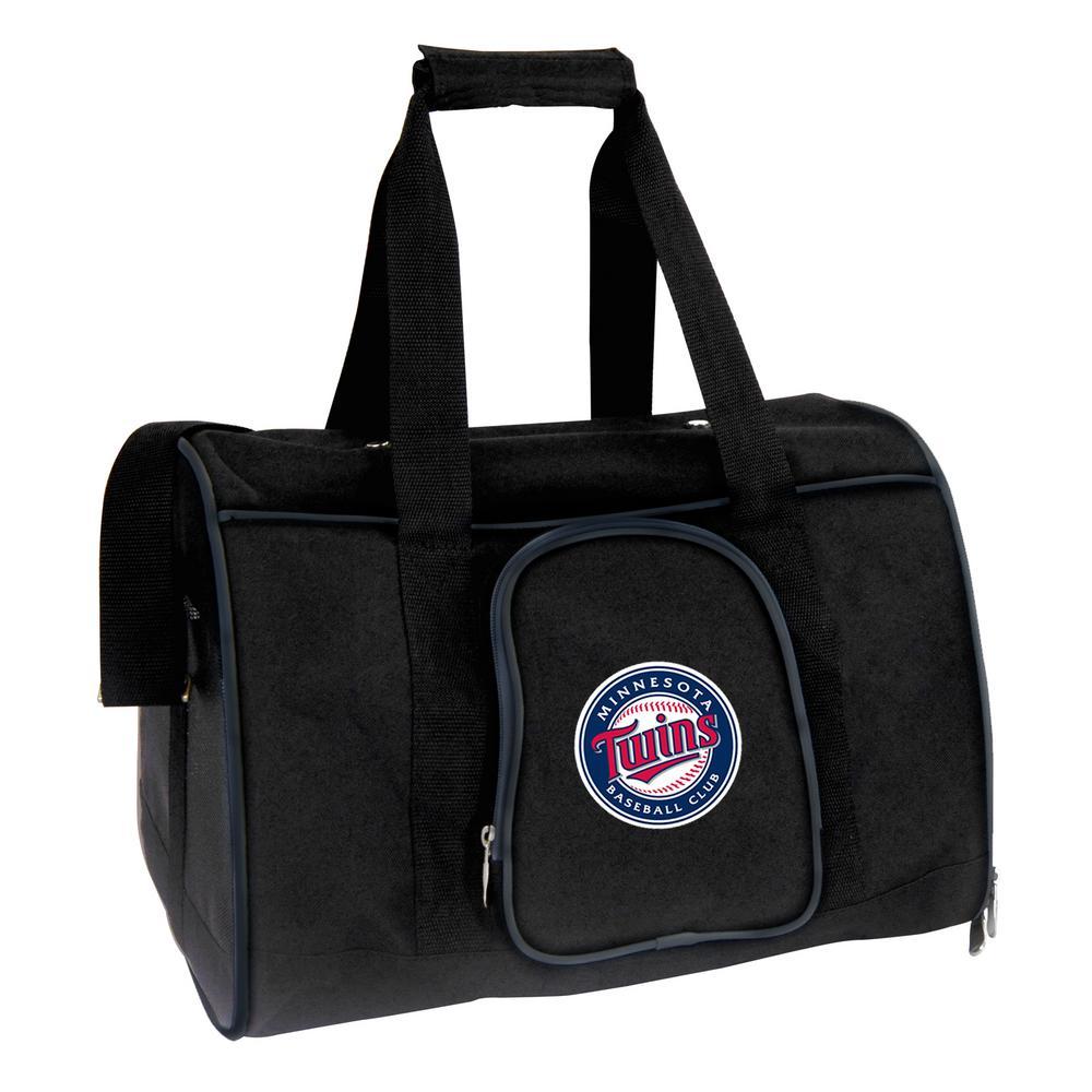 MLB Minnesota Twins Pet Carrier Premium 16 in. Bag in Navy
