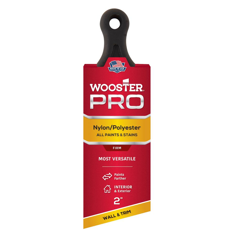Wooster 2 in. Pro Nylon/Polyester Short Handle Angle Sash Brush