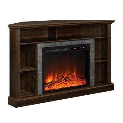 Parlor Espresso 50 in. TV Stand with Electric Fireplace