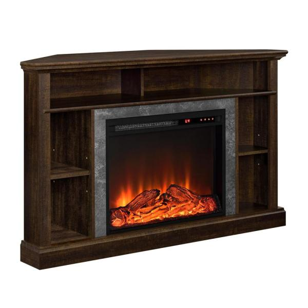 Ameriwood Home Parlor Espresso 50 in. TV Stand with Electric Fireplace