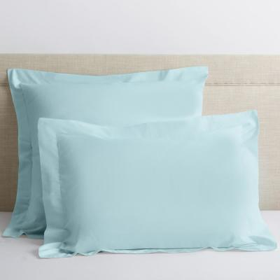 Company Cotton Sky Blue Solid 300 Thread Count Percale King Sham
