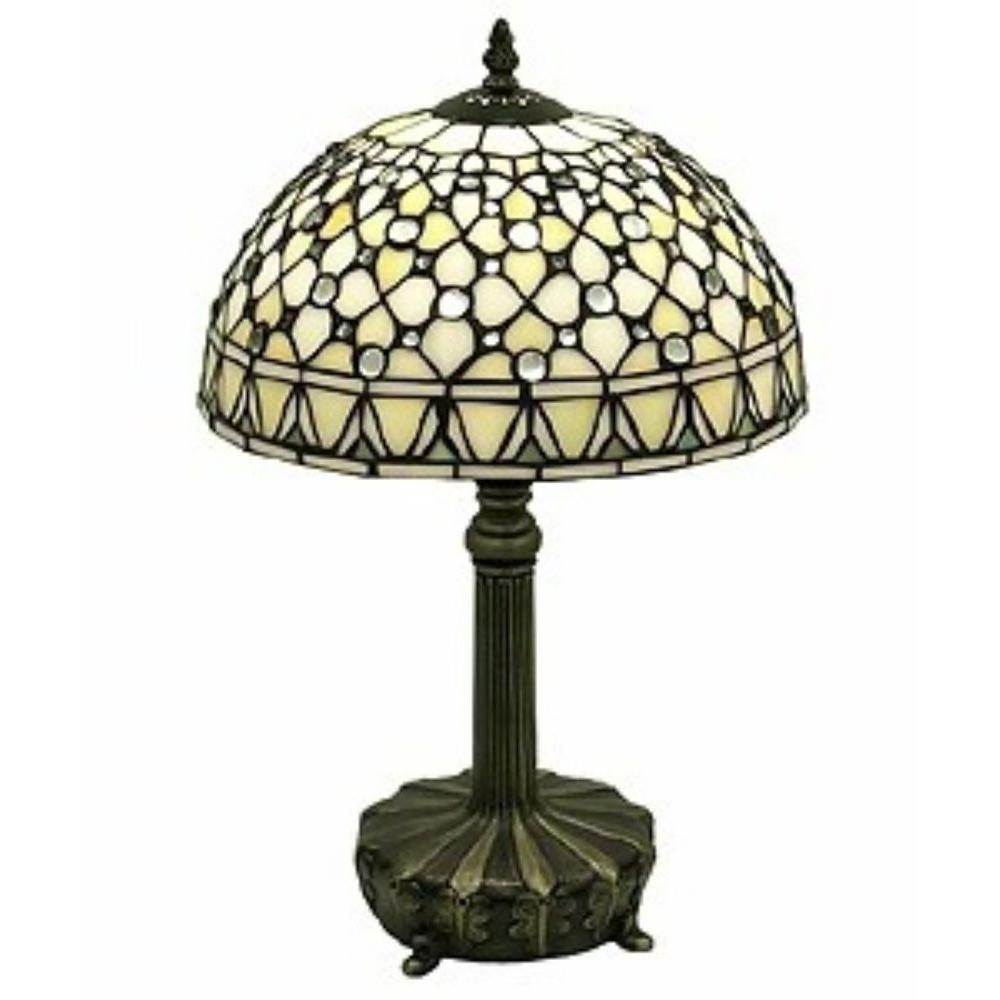 Warehouse of Tiffany Jewel 19 in. Brown Table Lamp