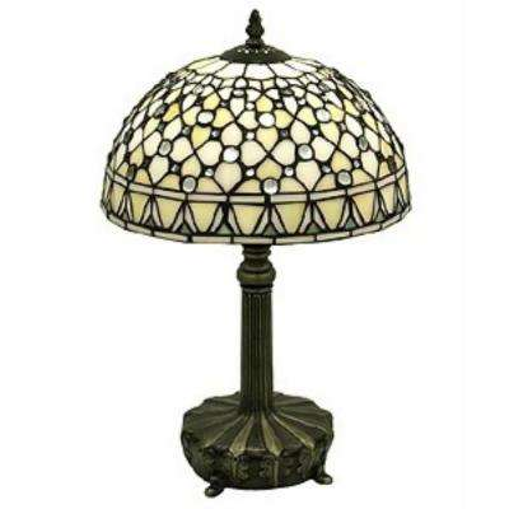 Jewel 19 in. Brown Table Lamp
