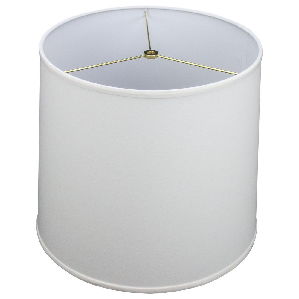 14 in. Top Diameter x 16 in. Bottom Diameter x 14 in. Slant Linen White Empire Lamp Shade