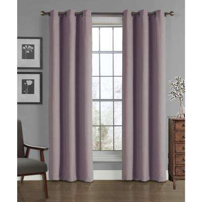 Solid Crushed Microfiber Grommet Panel in Dusty Lilac - 40 in. W x 84 in. L