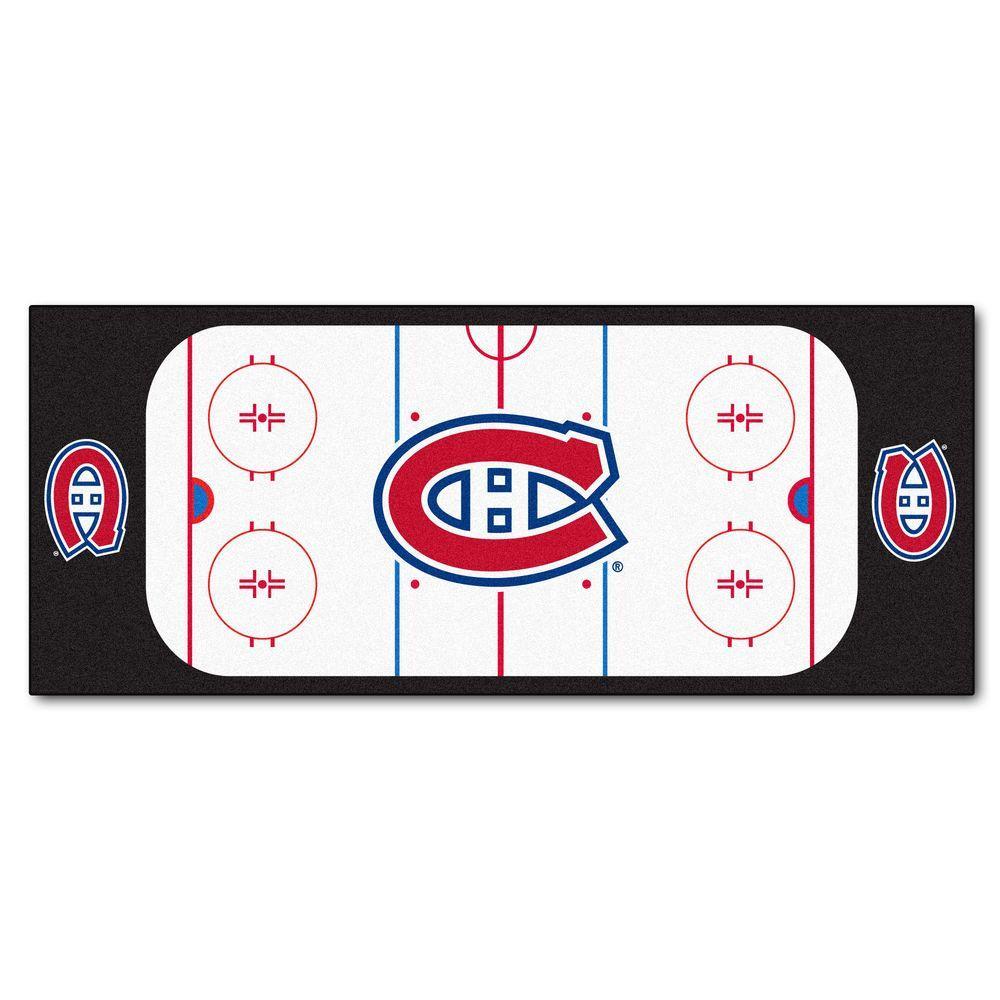 Montreal Canadiens 3 ft. x 6 ft. Rink Rug Runner Rug