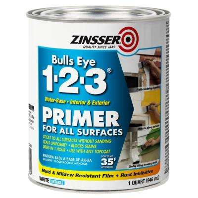 Bulls Eye 1-2-3 1 qt. White Water-Based Interior/Exterior Primer and Sealer