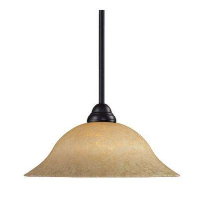 Lawrence 1-Light Bronze Incandescent Ceiling Pendant