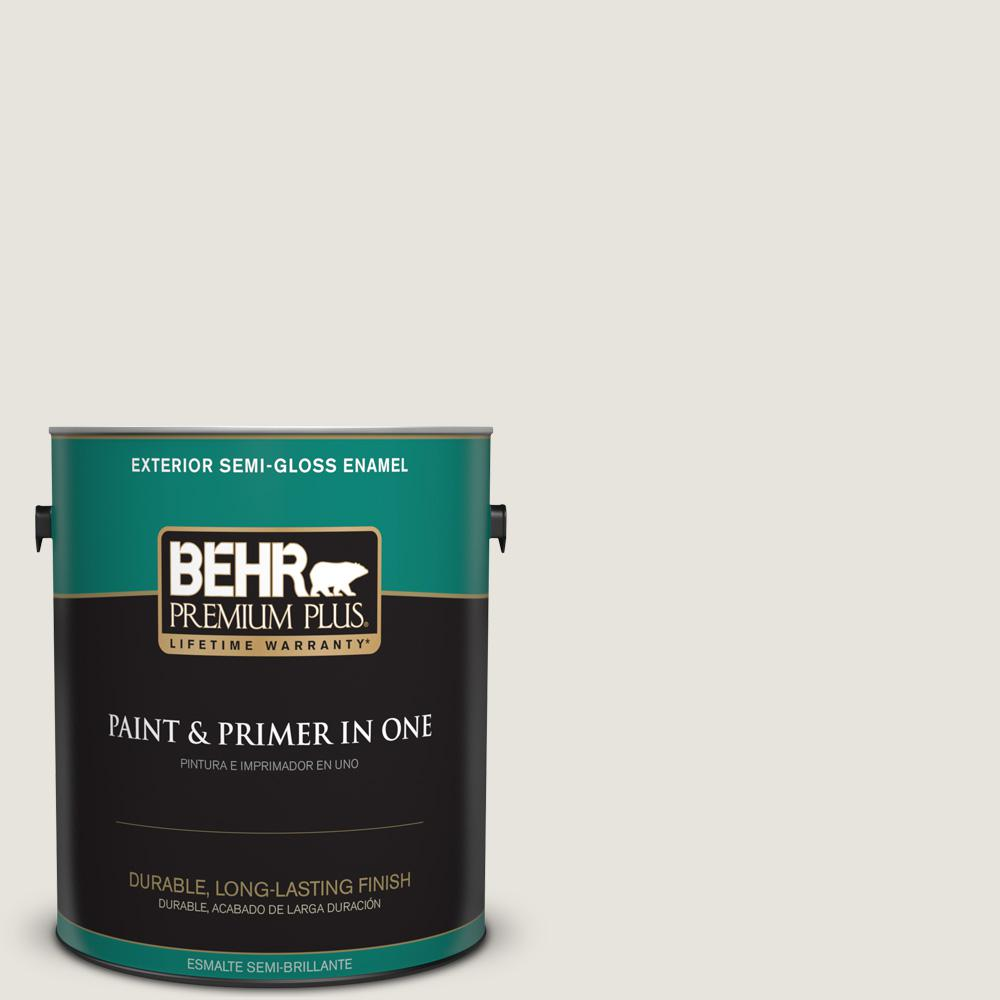1 gal. #PPU24-13 White Pepper Semi-Gloss Enamel Exterior Paint