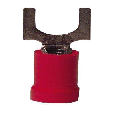 22-18 AWG 4 to 6 Stud Spade Terminal, Vinyl Red (15-Pack)