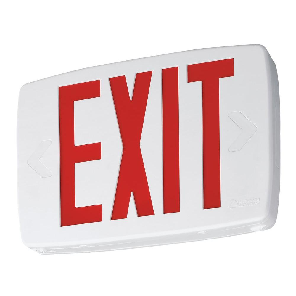 Lithonia Lighting Quantum Plastic LED Emergency Exit Sign with Self-Diagnostics  sc 1 st  Home Depot & Lithonia Lighting Quantum Plastic LED Emergency Exit Sign with Self ...