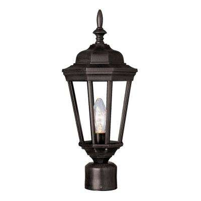 San Rafael 20.75 in. 1-Light Black Outdoor Postmount Lantern
