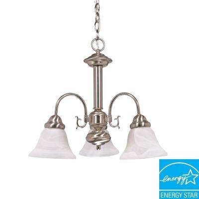 3-Light Brushed Nickel Hanging Chandelier