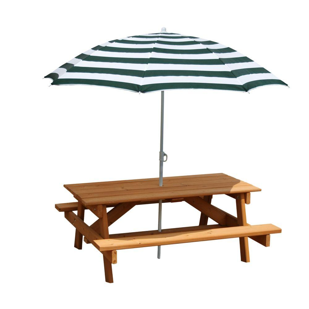 Gorilla playsets children 39 s picnic table with umbrella 02 - Children s picnic table with umbrella ...