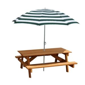 Gorilla Playsets Children's Picnic Table with Umbrella by Gorilla Playsets