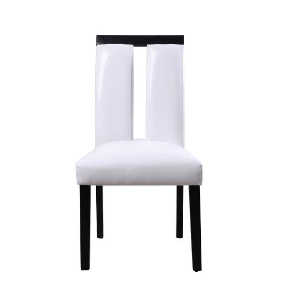 Acme Furniture Bernice White PU and Black Side Chair (Set of 2)