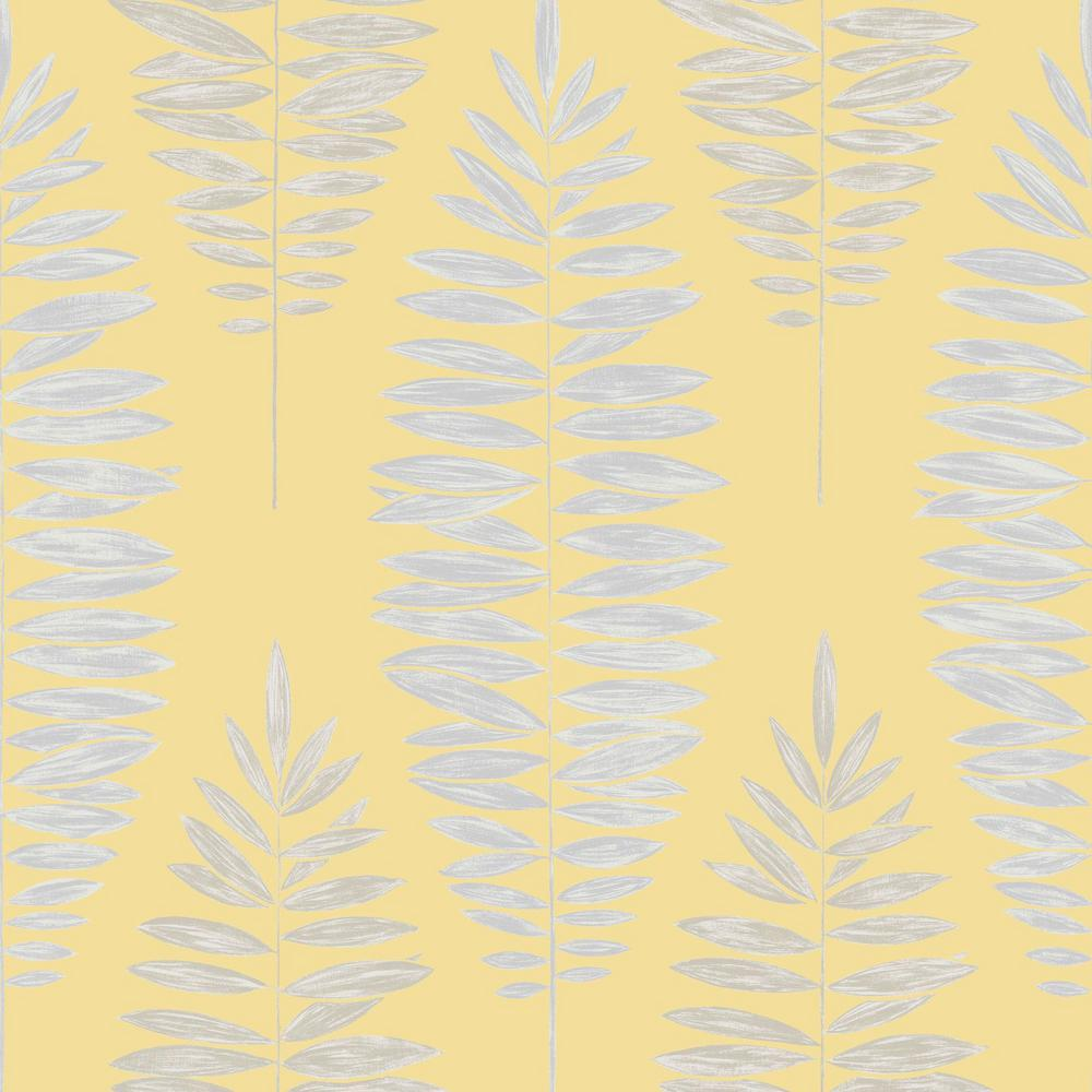 Lucia Yellow and Silver Removable Wallpaper