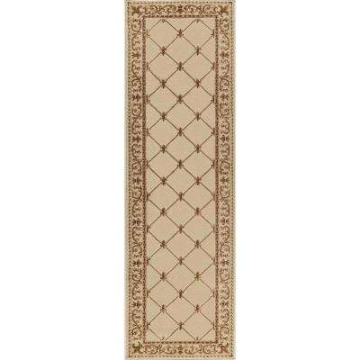 Sensation Ivory 2 ft. x 10 ft. Runner Rug