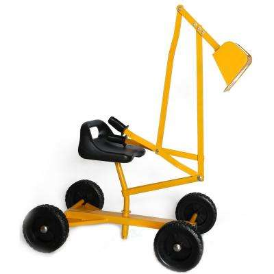 Metal Sand Digger Toy Crane with Wheels and Seat for Playset Sandbox