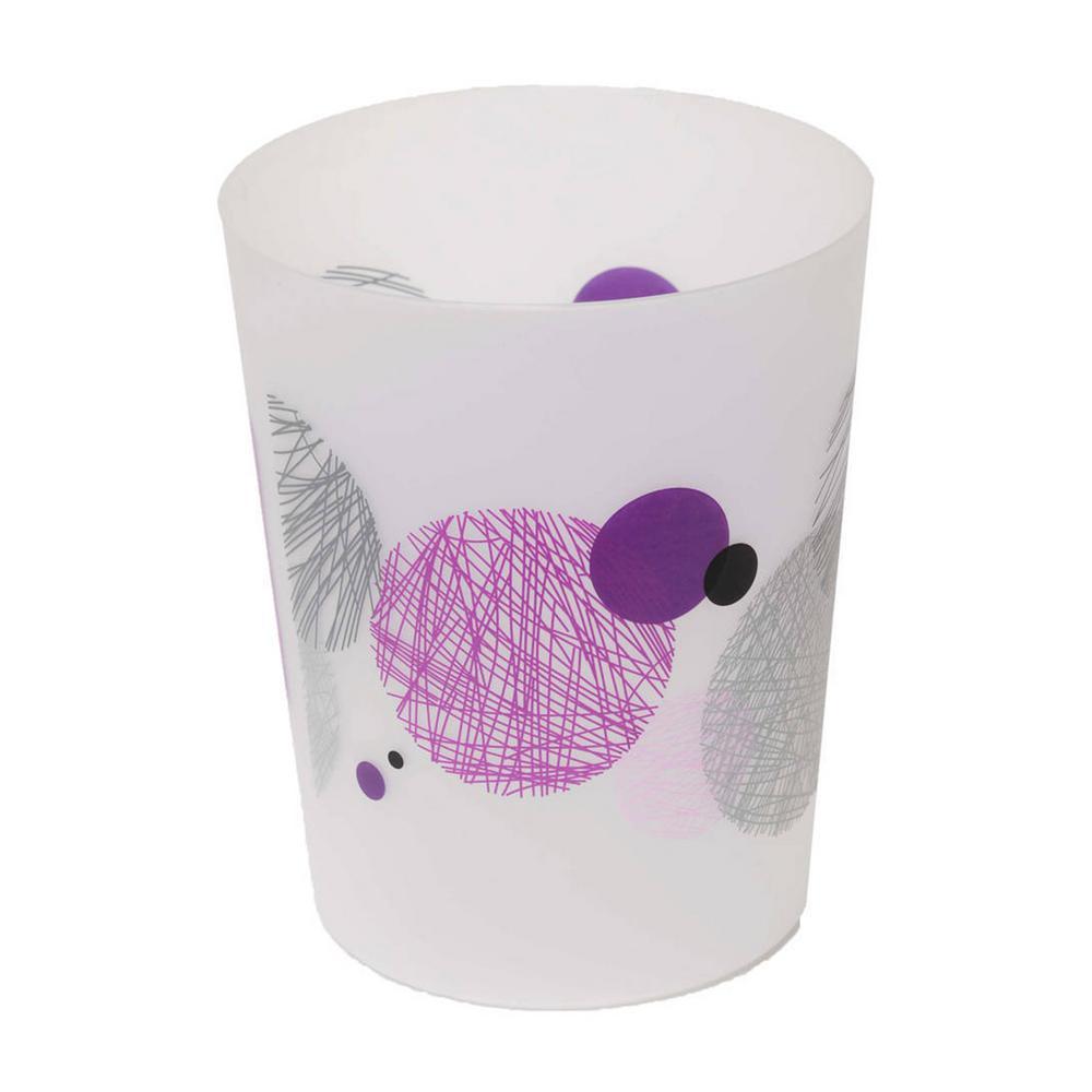 4.5 l/ 1.2 Gal. Printed Bath Trash Can Waste Bin Valentine