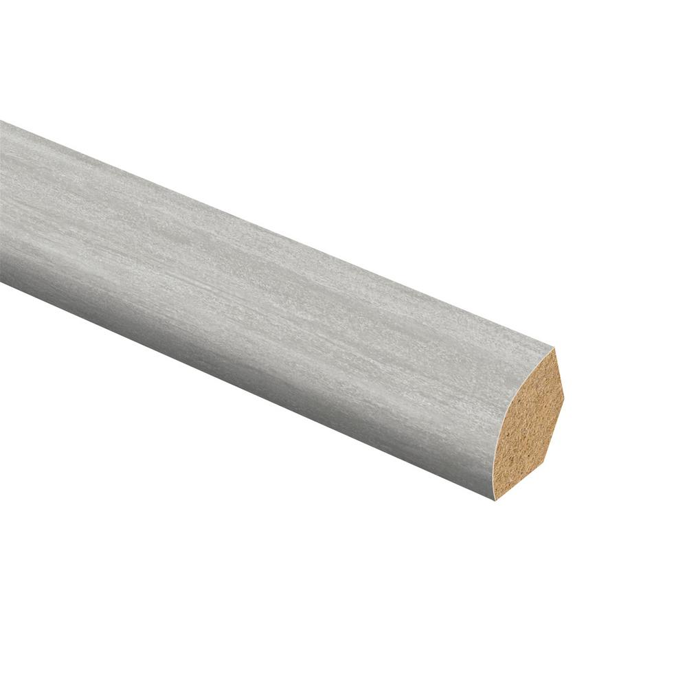 Zamma Capitola Silver 5/8 in. Thick x 3/4 in. Wide x 94 in. Length Vinyl Overlay Quarter Round Molding