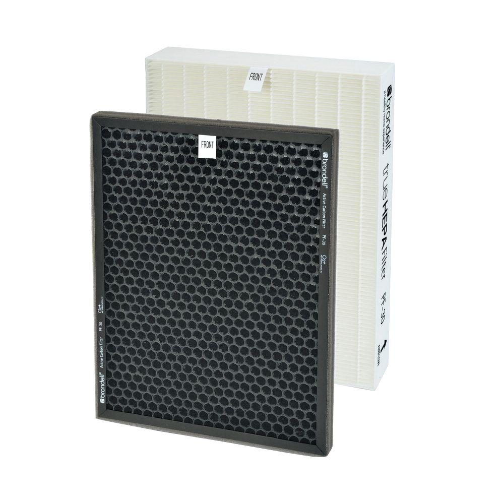 Brondell O2+ Air Purifier Replacement Filter Pack, Multi The Brondell O2+ Air Purifier replacement filter pack includes one True HEPA filter and one granular activated carbon filter and fits both the Source (P300) and Balance (P400) O2+ Air Purifier models. Both the Source and Balance will indicate when it is time to change the filters, which is recommended once a year. Color: Multi.