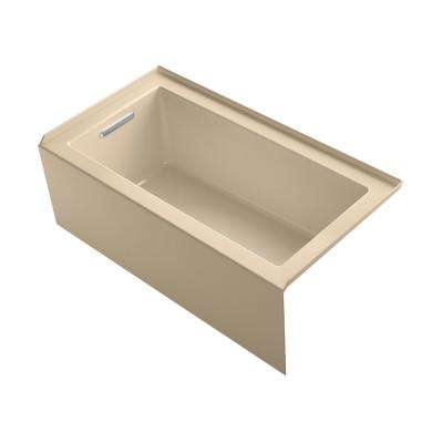 Underscore 60 in. Left-hand drain Rectangular Alcove Bathtub in Mexican Sand