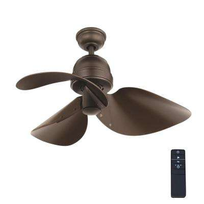 Kyland 32 in. Indoor Espresso Bronze Ceiling Fan with Remote Control